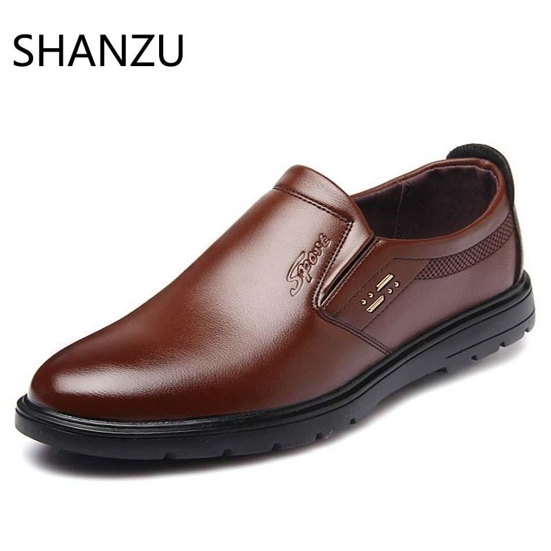 Fashion Men Dress Shoes Leather Oxford Shoes Lace Up Casual Business Slip On Formal Men Shoes Brand Men Wedding ShoesMX190909