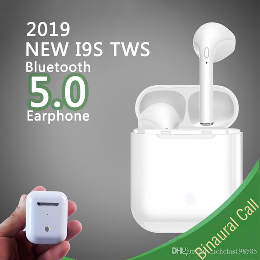 Bluetooth 5 0 Dual Ears Calls I9S Mini TWS Wireless Earphone Bluetooth  Headset Earphones Wireless Twin Earbuds For Android IOS Mobile phone
