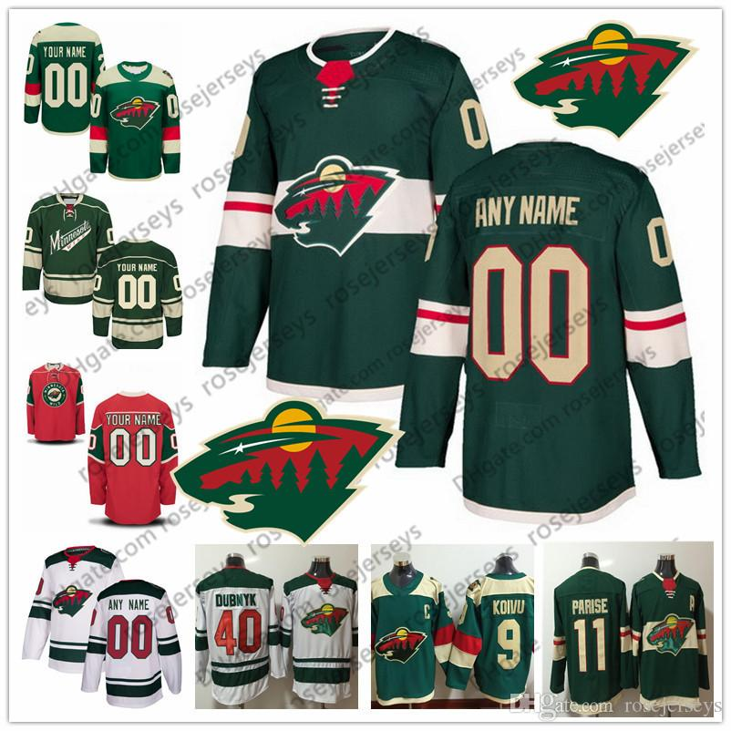 low priced 14c39 18d3c Minnesota Wild Green Third Jersey #22 Kevin Fiala 24 Matt Dumba 77 Brad  Hunt 18 Greenway 17 Marcus Foligno Eric Fehr Red White