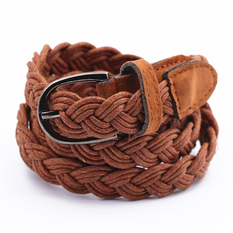 57a7a31f1d58c Women S Belts Retro Woven Belt Ladies Decorative Waistband Female Pin  Buckle Braided Belt Casual Thin Waist Rope Decoration RE04 Leather Belt Jiu  Jitsu ...