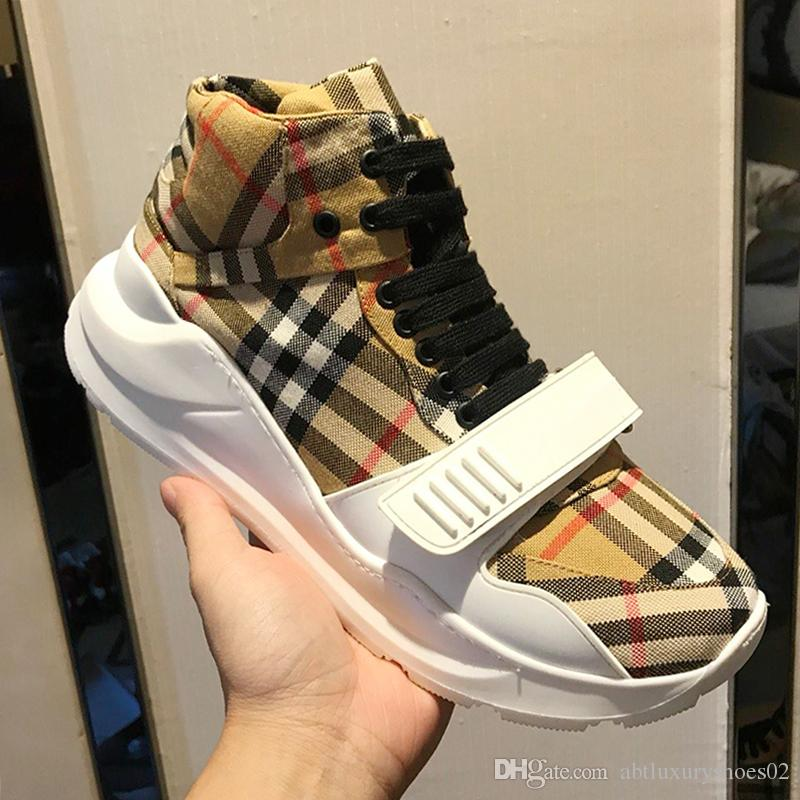 2019 Fashion Sneakers Mens Large Size Herren Sportschuhe Vintage Check Cotton Sneaker Luxury Mens Shoes Casual Zapatos De Hombre Hot Sale From