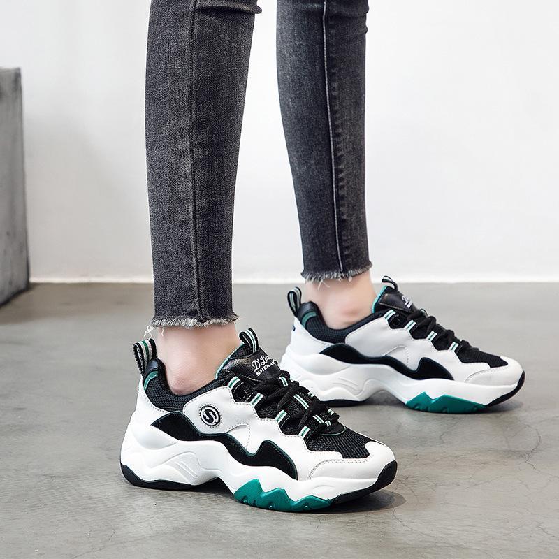 b240581eb09d 2019 frühjahr neue muster casual shoess alte weisen split joint panda  schuhe sohle frauen singles shoess wiederherstellen Motion Dad Schuhe Damen