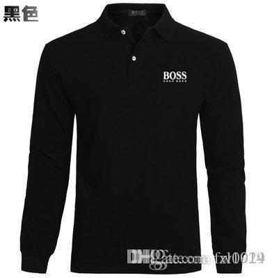4e4e59fefab2 2017 brand men's fashion casual solid color polo shirt clothing autumn and  winter new men's polo high quality long-sleeved crocodi