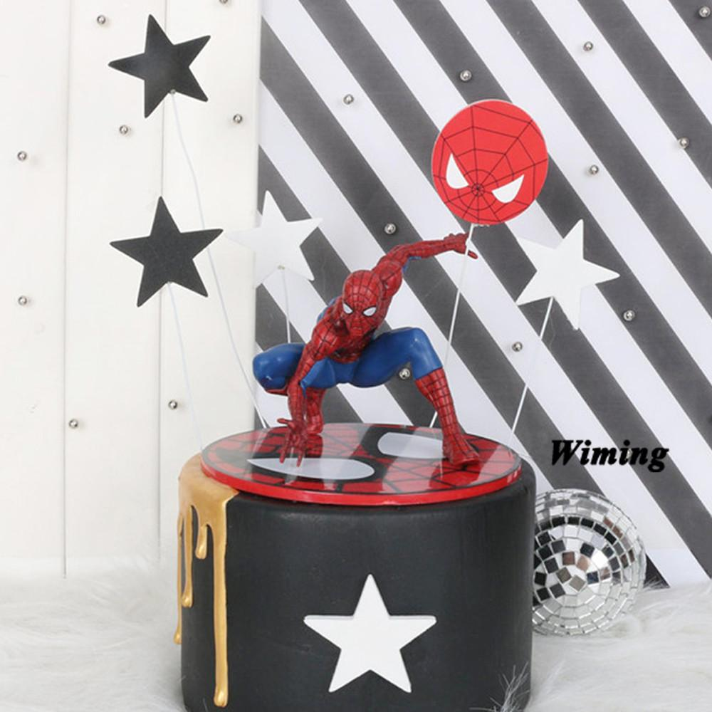 toy spider man baby first birthday boy party supplies hot toys cake decorating birthday party cake topper