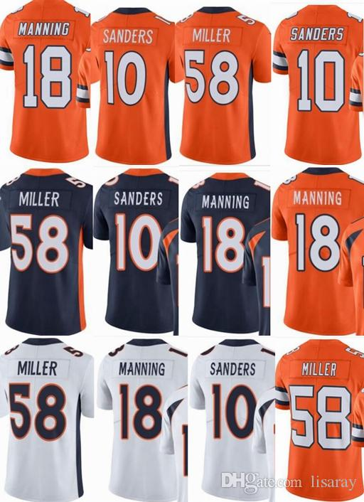 promo code 1a719 62792 custom men/youth/women #10 Emmanuel Sanders 18 Peyton Manning 58 Von Miller  Vapor Untouchable Limited/rush/elite jerseys