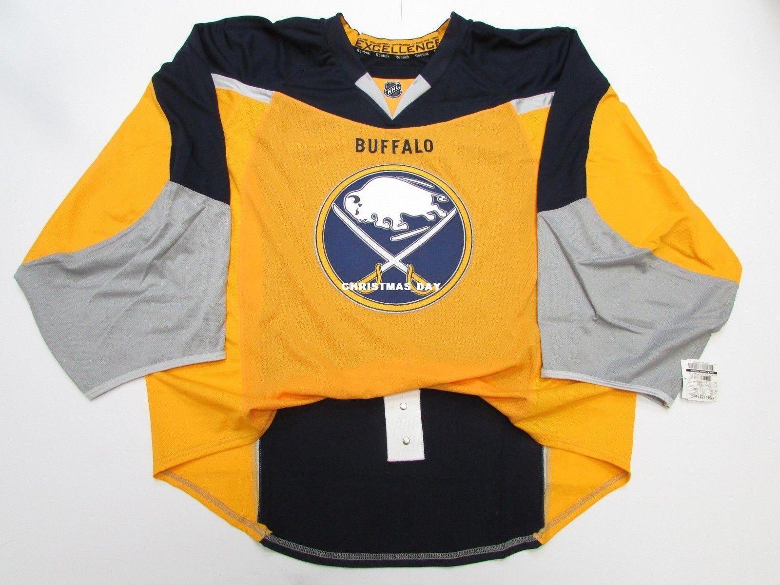 designer fashion 51808 e1281 Cheap custom BUFFALO SABRES JERSEY GOALIE CUT ISSUED EDGE 2.0 7287 Mens  Stitched Personalized hockey Jerseys