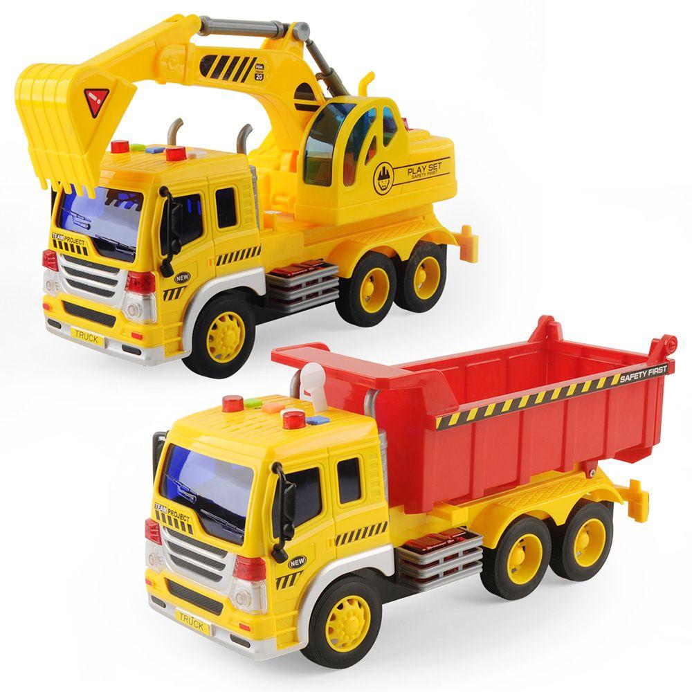 Big Dump Trucks >> 2019 Big Dump Truck Model Toy Inertial Car For Kids Gift 1 16 Scale