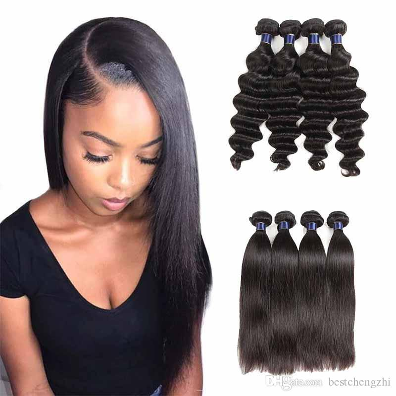 Cheap Malaysian Remy Human Hair Extensions Loose Wave Straight Peruvian  Brazilian Virgin Hair Loose Wave Cheap Human Hair Wefts Straight Black Hair  Weave ... 3d39a6b95