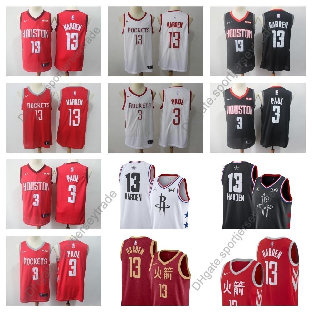 45ff35378 2019 2019 Earned Mens #13 Houston Chris Paul James Harden Rockets Edition  Basketball Jerseys City James Harden Edition Stitched Shirts S XXXL From ...