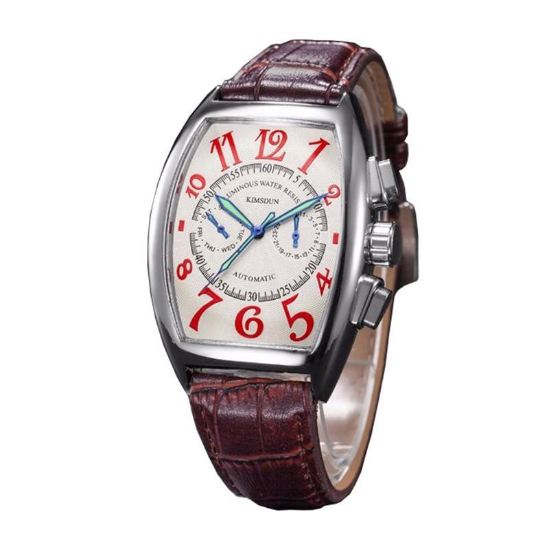 sconto più votato prodotti di qualità fornire un sacco di Gornergrat Running wine barrel Precision cronografo Casual Orologio da uomo  Luminoso Retro classico orologio da polso impermeabile
