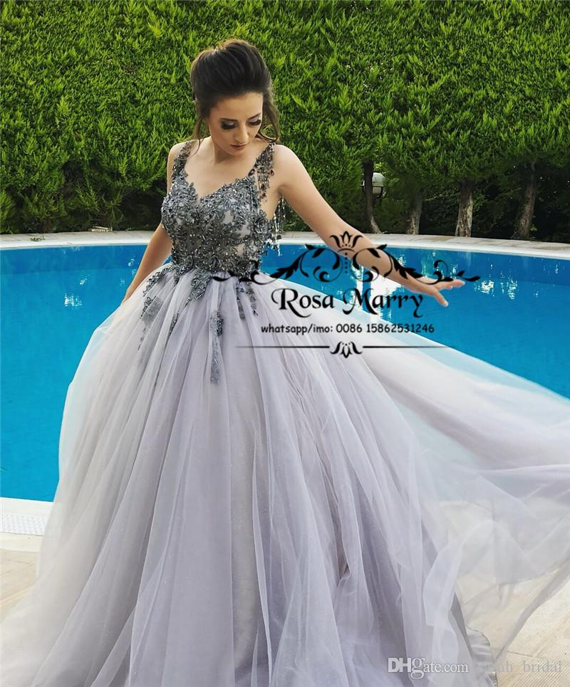 Sparkly Crystals Vintage Lace Cheap Prom Dresses 2K19 Plus Size Low ...