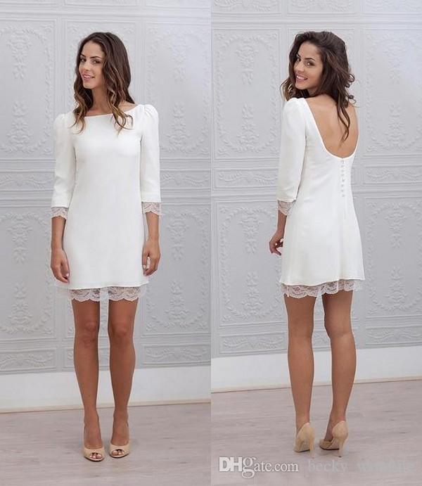 Sexy Short Dresses Reception Wedding
