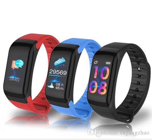 28d257e760 F1 plus color-screen smart hand ring heart rate sleep monitor step  Bluetooth step motion Smart Bracelet