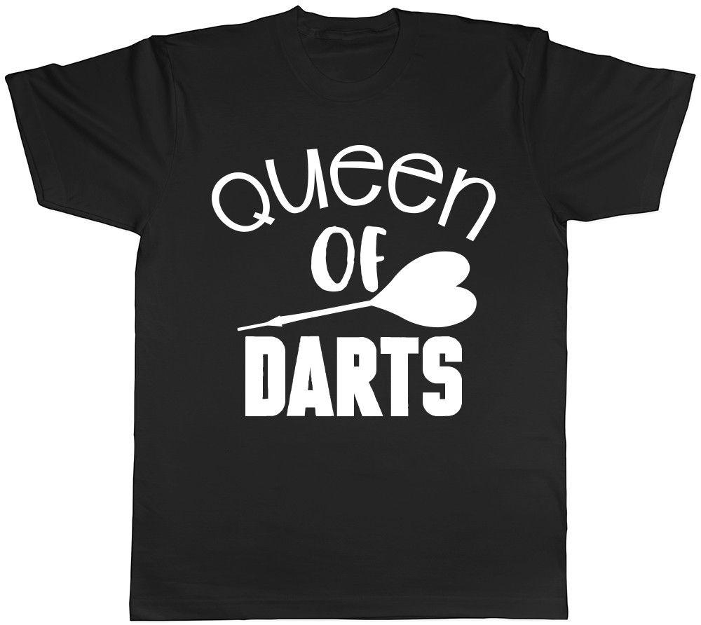 Queen of Darts Ladies Womens Unisex camiseta Divertido envío gratis Unisex Casual