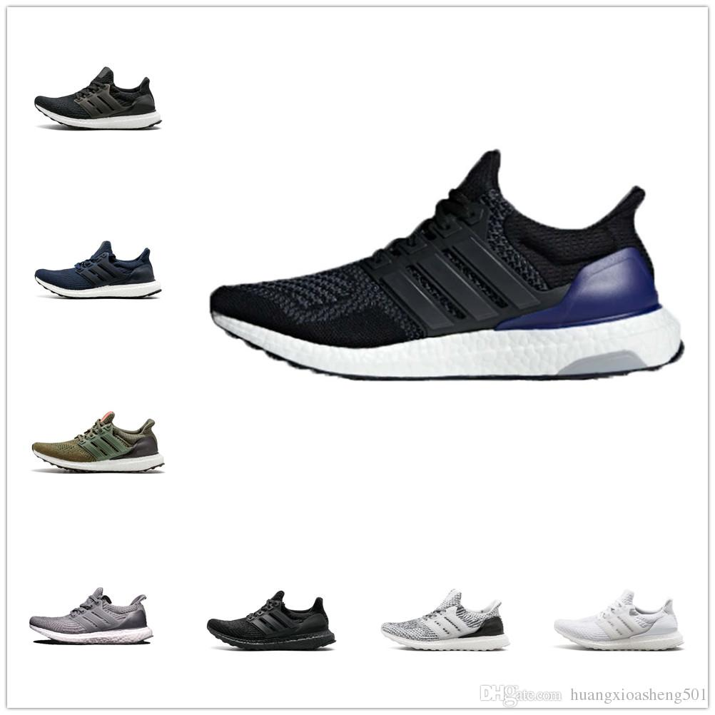 check out 558c0 af766 2019 Ultra Boost 1.0 Og 3.0 4.0 Triple Black And White Primeknit Oreo CNY  Blue Men Women Running Shoes Ultra Boosts Ultraboost Sport Sneakers From ...