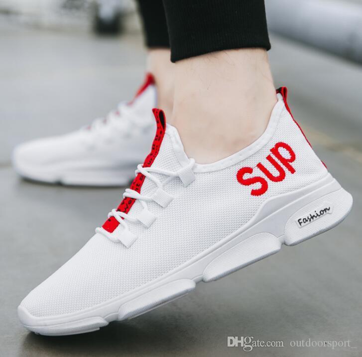 huge discount c7904 a4932 Herren Designer Schuhe atmungsaktiv koreanische Version des Trends der  wilden Sportschuhe Laufschuhe Studentenschuhe Großhandel