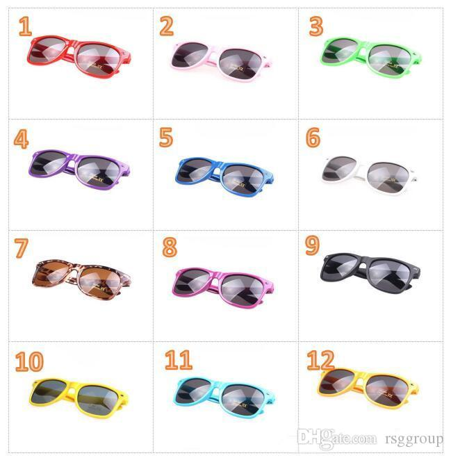 ins mixed colors kids sunglasses classic style sports women and men modern beach sunglasses Multi-color sunglasses