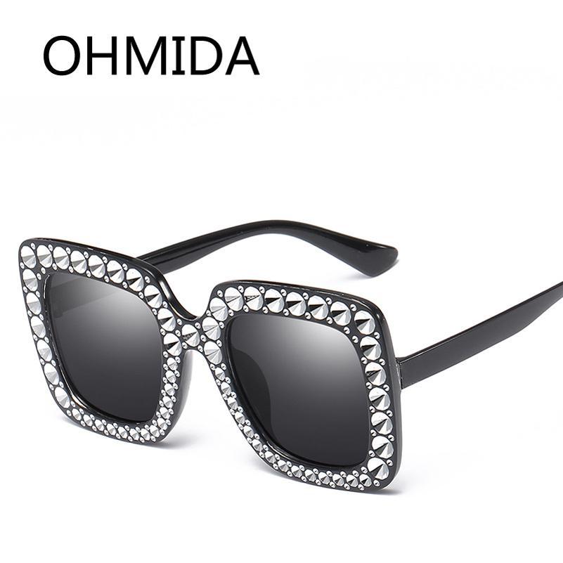 eeacf8d574bb OHMIDA Fashion Oversized Square Sunglasses For Women Brand Designer ...