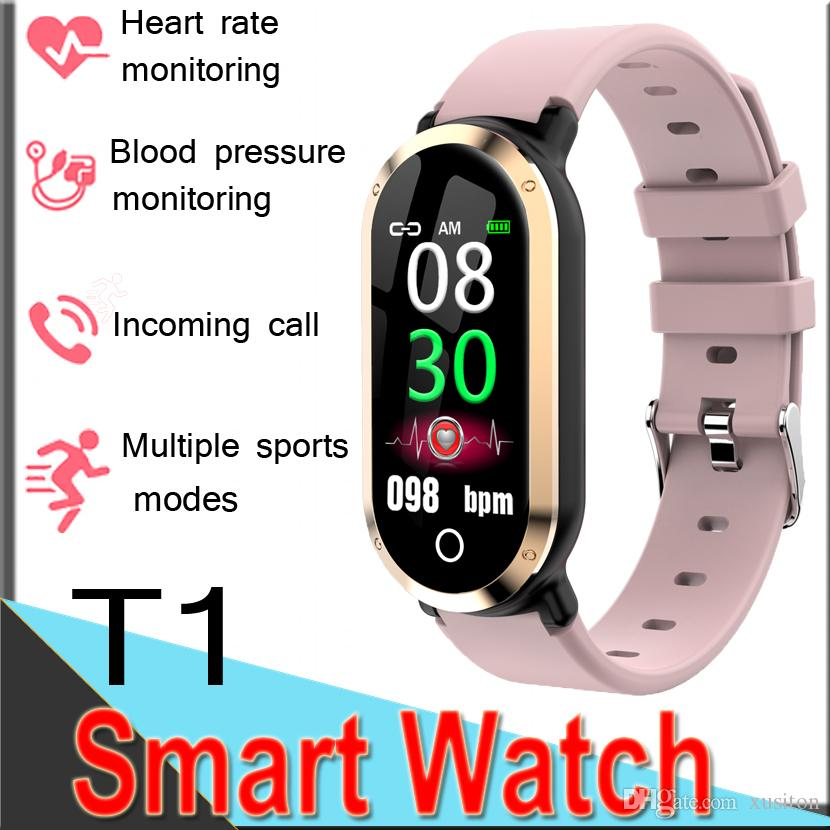 smartwatch bracelet Heart rate monitoring Blood oxygen watch women camera  Sports band Message smart watch Waterproof for Android ET1 50 Pack