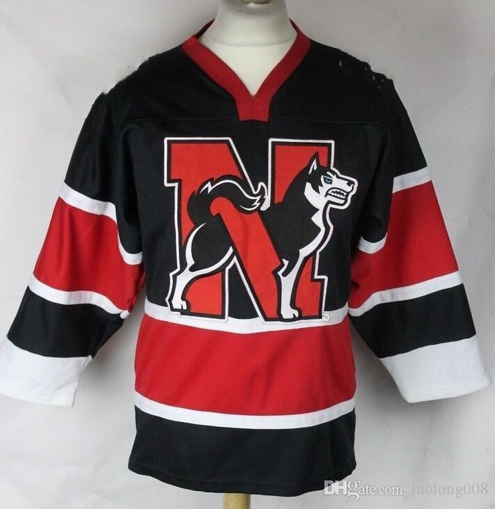 info for 79059 96e0d Vintage VINTAGE NORTHEASTERN HUSKIES HOCKEY JERSEY Embroidery Stitched  Customize any number and name Jerseys