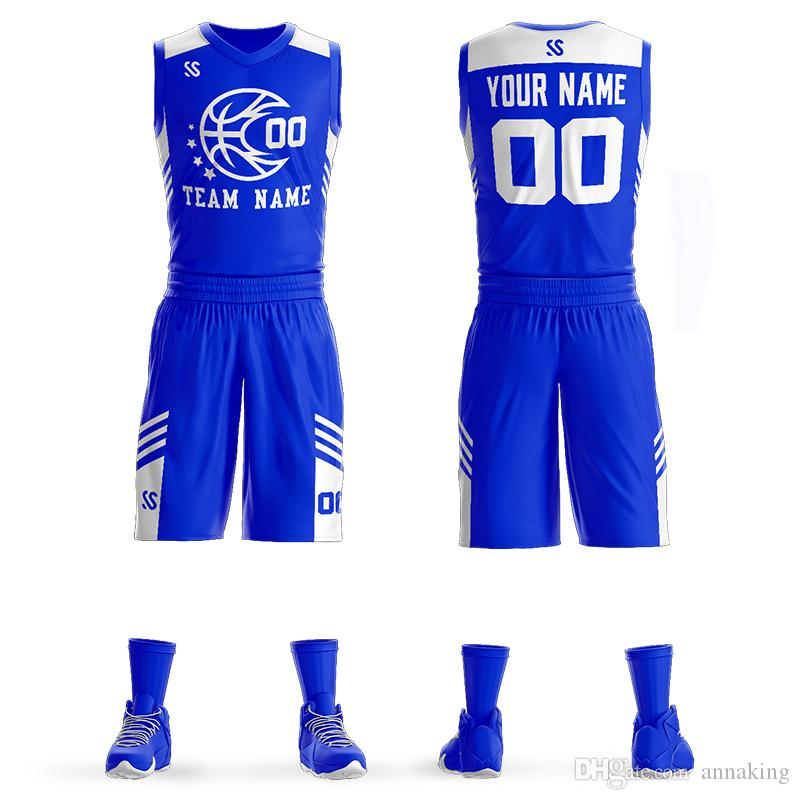 631b85cc7fd 2019 Mens Youth Custom Basketball Uniform Kits Sports Clothing Sublimation  Blank Any Color Team Basketball Jersey Sets From Annaking, $27.92 |  DHgate.Com