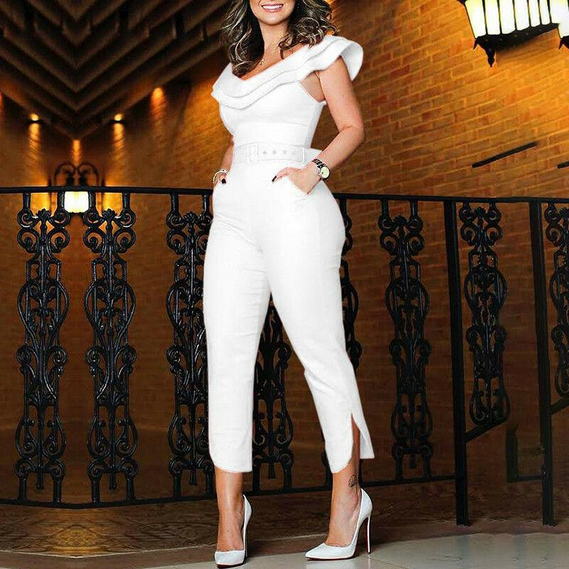 7d571ea8afcf 2019 Women S Ruffles Off Shoulder Jumpsuit Playsuit Party Puff Thick Romper  Fashionable Women S Jersey From Lorsoul