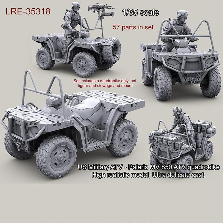 1/35 resin model kit US Military ATV - Polaris MV 850 ATV quadrobike (only  Car) unpainted and unassembled Free shipping 311G Y190530