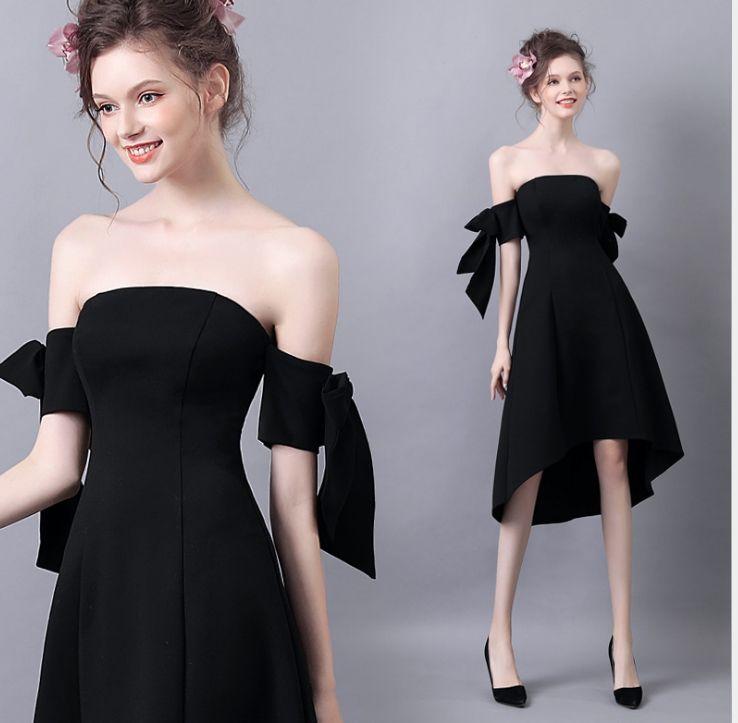 Vestido negro un solo tirante