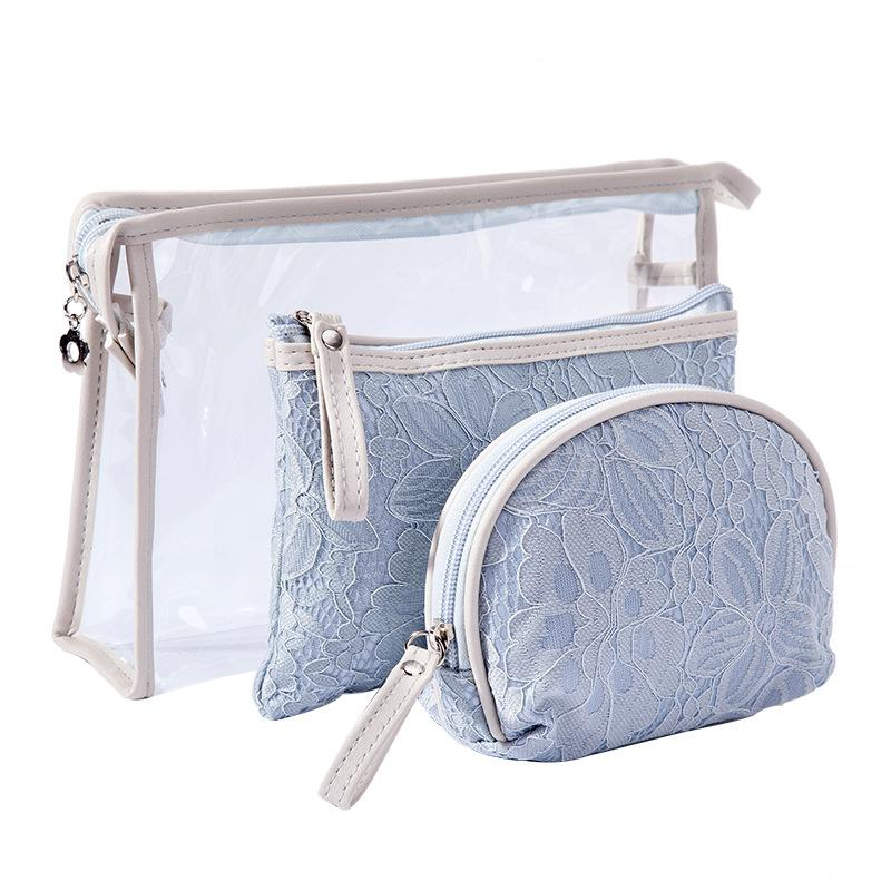52772cfbbf Women Lace Cosmetic Bag Travel Organizer PVC Transparent Make Up Pouch  Beautician Vanity Makeup Storage Necessaire Trip Toiletry Bags Cute Makeup  Bags From ...