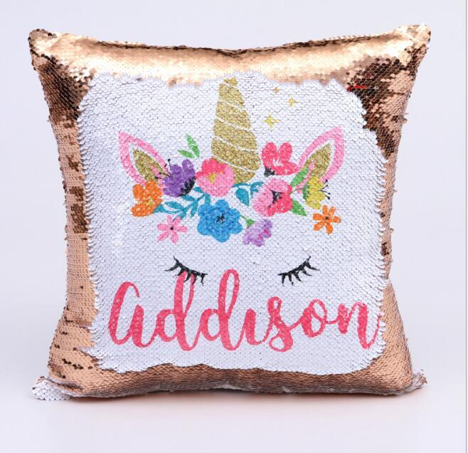 40 40cm Sequin Pillow Case Cover Unicorn Cushion Cover Decorative