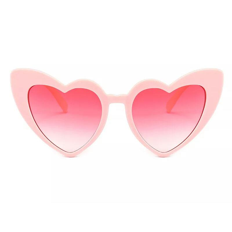 Fashionable Heart Sunglasses For Women Unique Cat Eye Sunglasses Black Pink Red Heart Shape Sun Glasses For Women Uv400