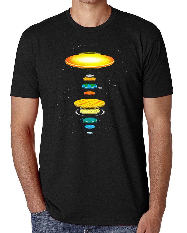 7ff7fabb Flat Earth T Shirt Men'S Comedy T Shirts The Flat Solar System Be T ...