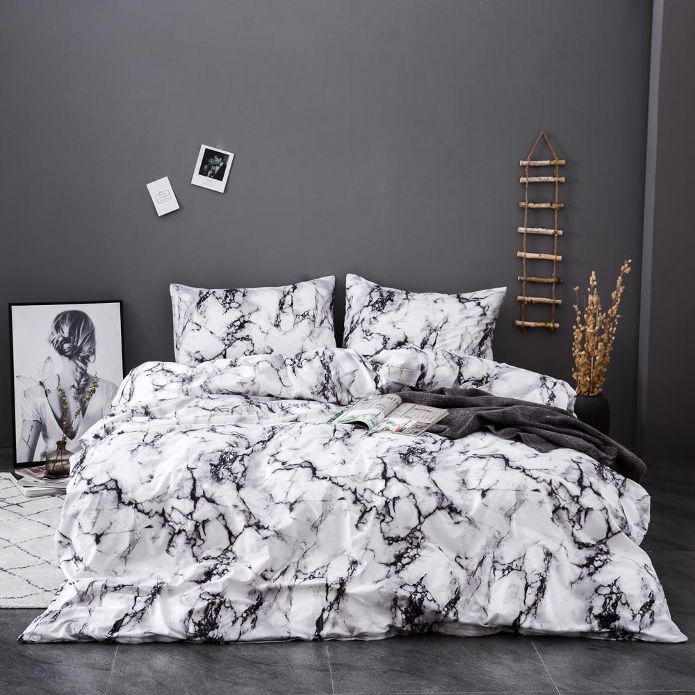 Marble Pattern Bedding Sets Duvet Cover Set 2bed Set Twin Double