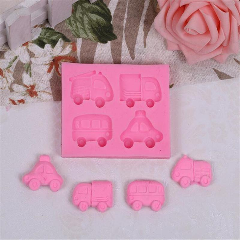 Silicone Car Cake Mold Cake Candy Mold Fondant Decoration Tool Kitchen Baking Tools