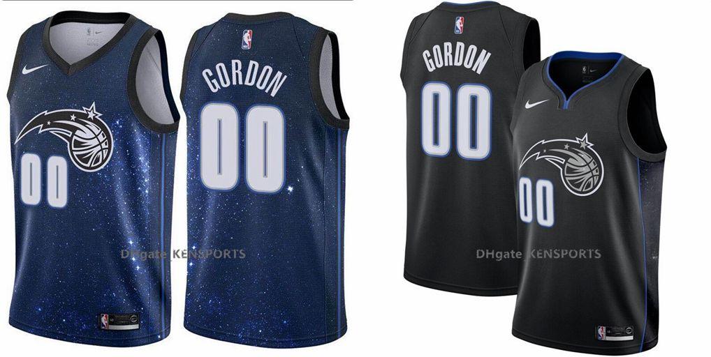 new product 416b4 fd97f 2019 New Aaron Gordon Orlando Basketball Magics Jersey #00 Aaron Gordon  Stitched 2018/19 Swingman Jersey - City Edition