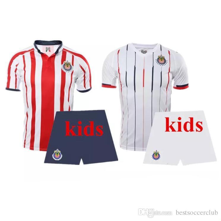 7b27aaafc47 2019 2018 LIGA MX Club America Soccer Jerseys O.PERALTA I.RENATO 18 19  Chivas De Guadalajara Mexico Home Away Football Shirt Kids Kit From  Bestsoccerclub