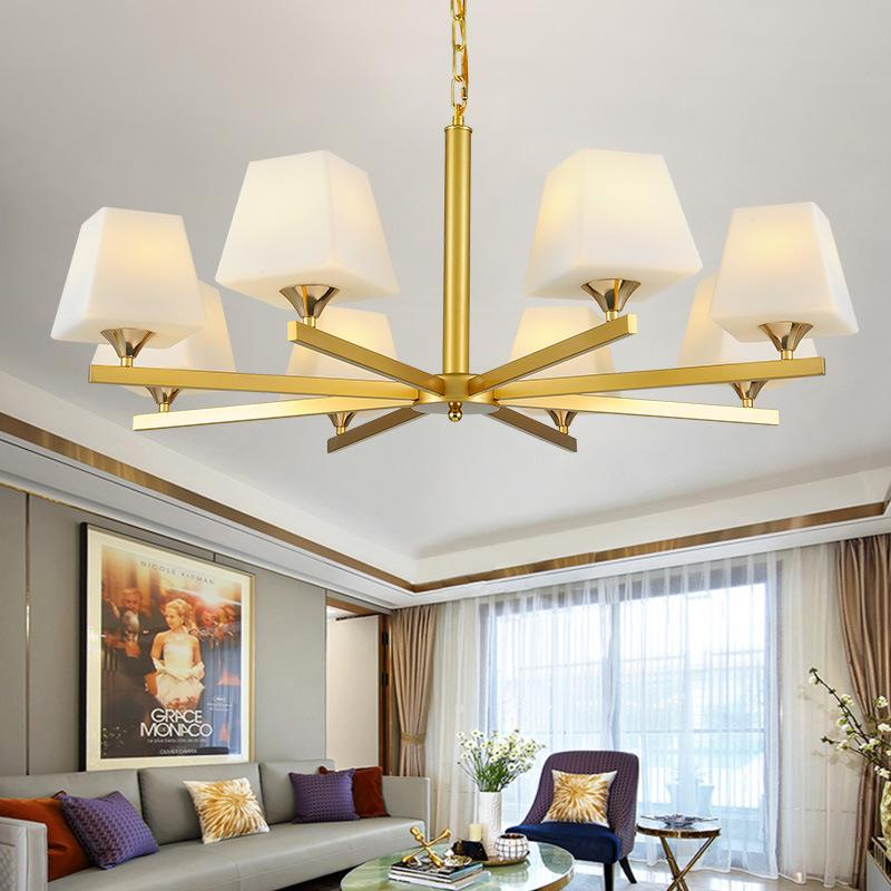 Lights & Lighting Modern Led Chandeliers Lighting Glass Suspended Lamps Luxury Deco Fixtures Living Room Pendant Luminaires Bedroom Hanging Lights