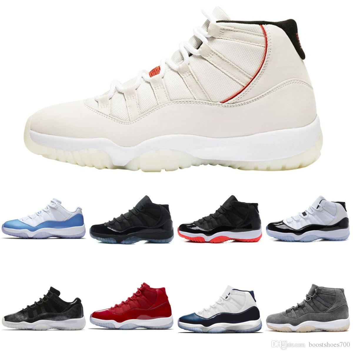 huge selection of 4e997 95949 Platinum Tint Concord 45 11 XI 11s Cap And Gown Mens Basketball Shoes Prom  Night Gym Bred Barons Space Jams Sneakers Designer Shoes Jordans Sneakers  ...