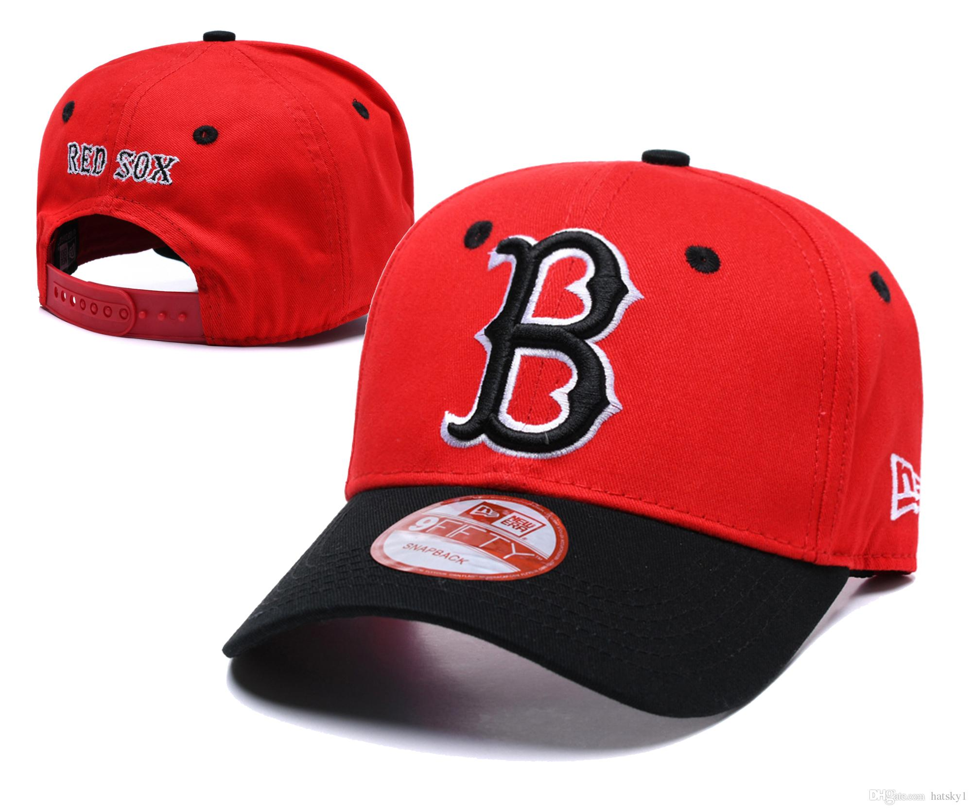 9ec807121870d Hot Sale Designing Red Sox Hats Men Women Baseball Caps Snapback Solid  Colors Cotton Bone European American Styles Fashion Hat The Game Hats Baby  Caps From ...