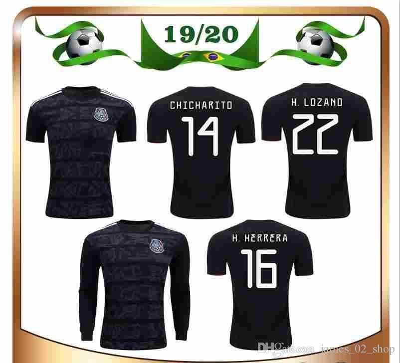 68c1f8fda 2019 Gold Cup 2010 Mexico Soccer Jersey 19 20 Chicharito Football Shirts  H.Lozano Saved Man Woman Boy Long Sleeve Kids Football Shirts Kit From ...