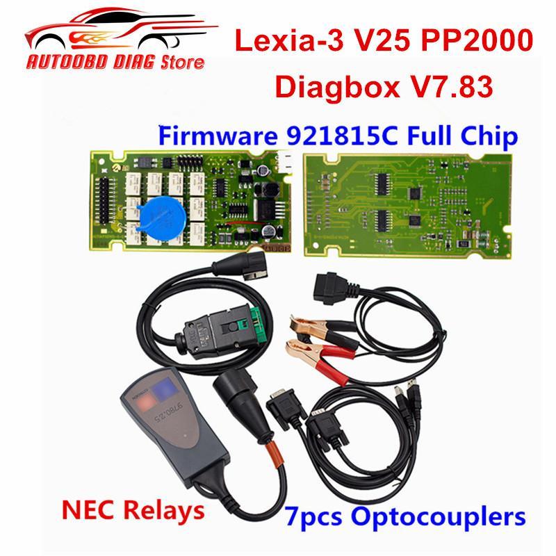LEXIA-3 PP2000 PAS Evolution Super Firmware 921815C Full Chip Gold Edge  Lexia 3 Diagbox V7 83 For Citroen/For Peugeot