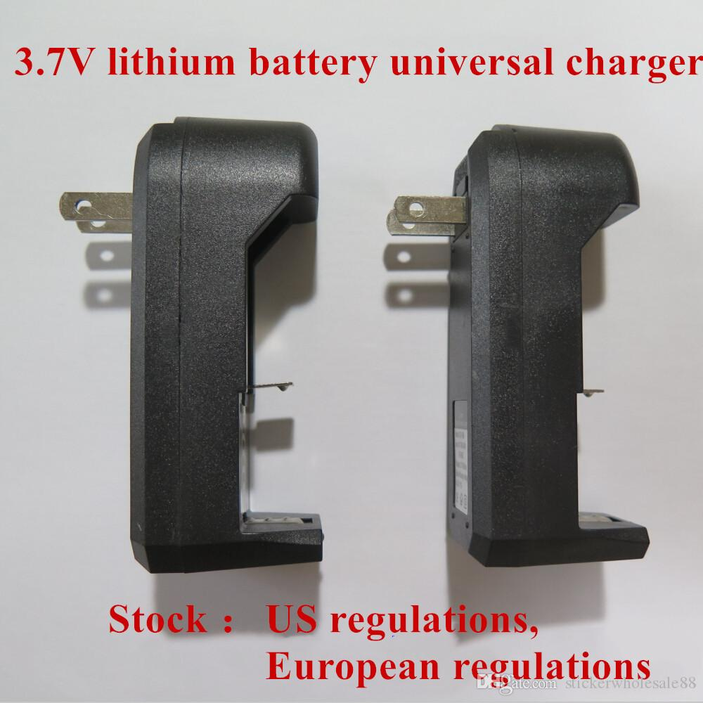 Universal Single double charger Slot wall battery charger for 16340 14500 18650 rechargeable li-ion battery charger