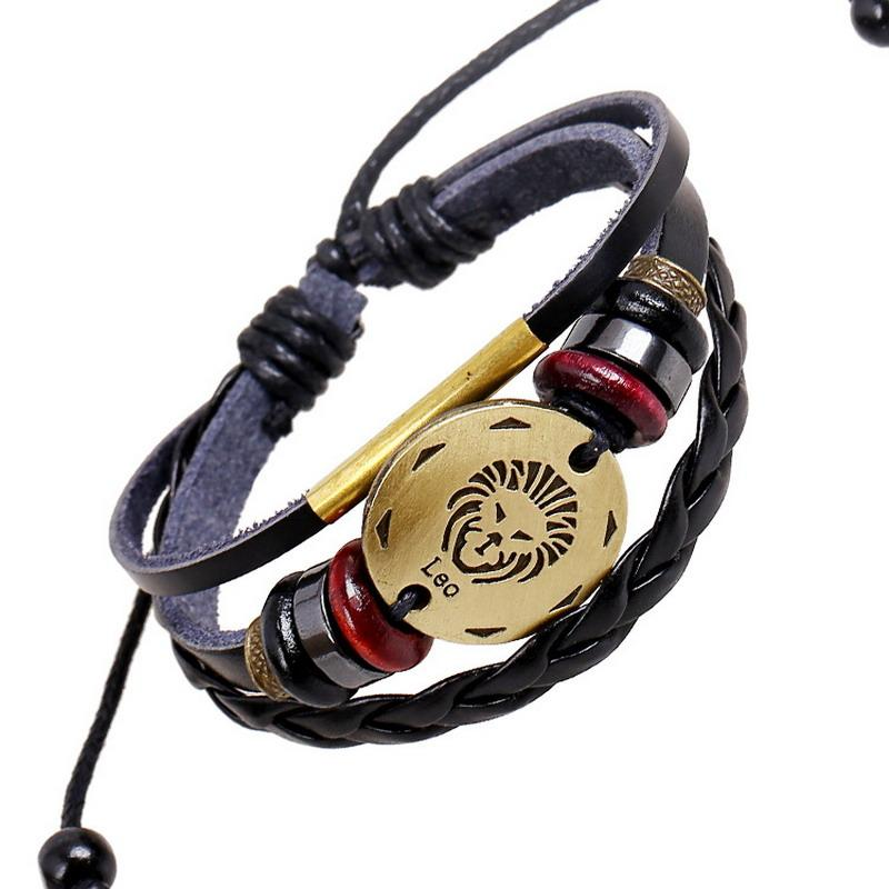 Charitable 12 Constellations Bracelet For Women Fashion Jewelry Leather Bracelet Men Casual Personality Zodiac Signs Punk Bracelet Charm Bracelets & Bangles Back To Search Resultsjewelry & Accessories