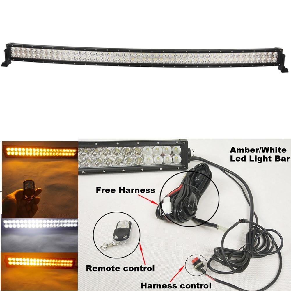 Curved 288w 50inch White Amber Led light bar LED fogLights for Off-road on light bar bulbs, light bar on 4 wheeler, light bar lights, light bars for trucks, light bar battery, light bar switches, light bar bracket, light bar 24 in, light bar cover, light switch battery wiring, light bar bumper, light bar windshield, light bar headlights, light bar control box, light bar switch harness, light bar wiring labels,