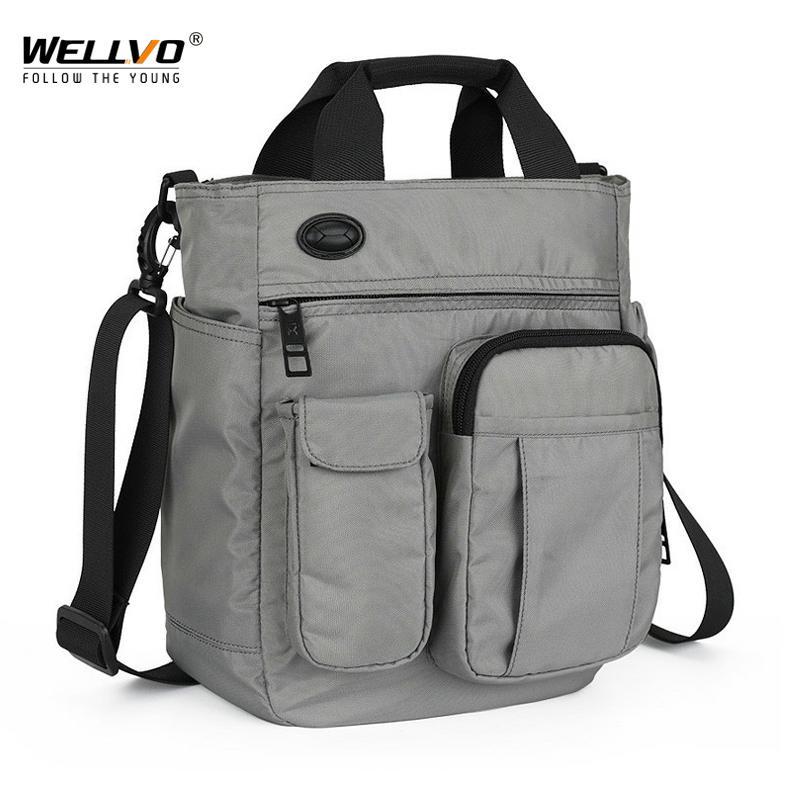 d641ab790206 Men Multifunctional Shoulder Messenger Bag With Headphone Hole Waterproof  Nylon Travel Handbag Large Capacity Storage Bags XA11C Crossbody Bags  Satchel From ...