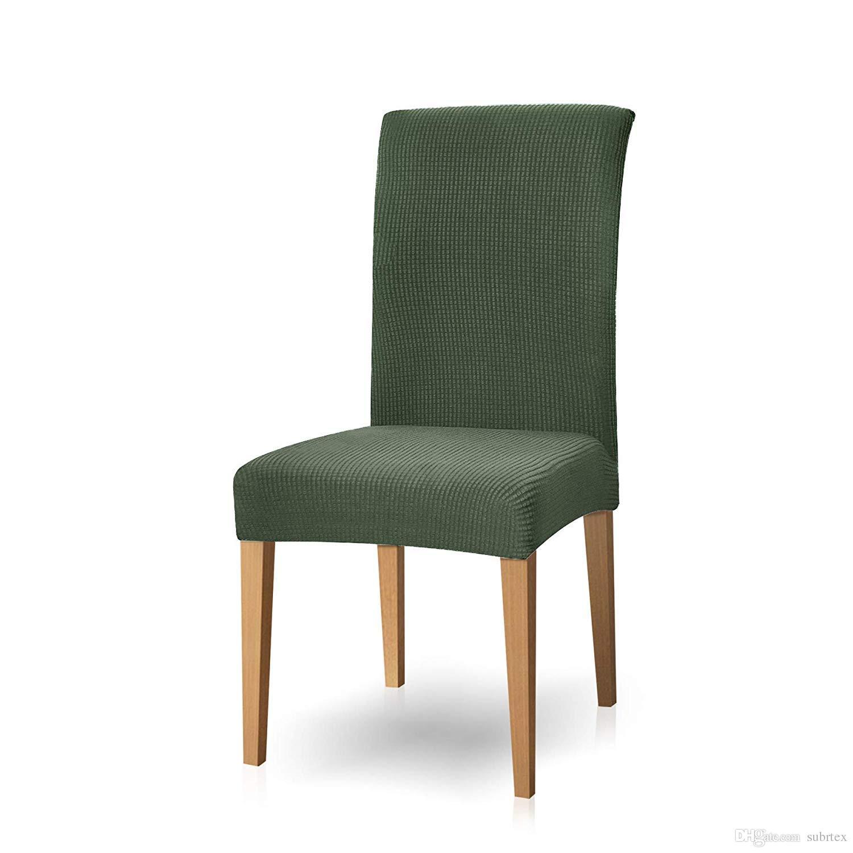 Subrtex 2 piezas Silla de comedor Fundas Protectoras para muebles Cubiertas  de la silla de Spandex Jacquard, Tela elástica teñida Jacquard Cubierta de  ...
