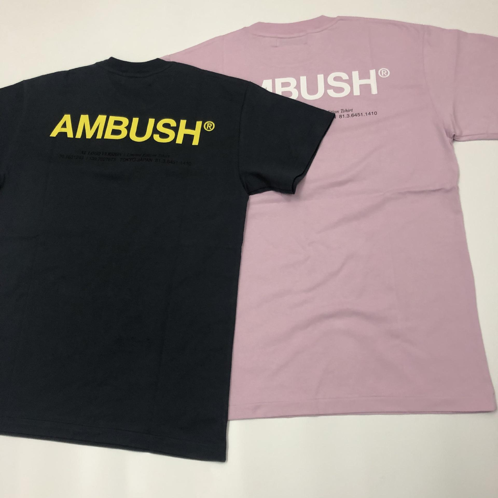 19ss Mens Ambush 3M Reflective Tshirts Summer Simple Fashion Basic Tees Short Sleeved Tops