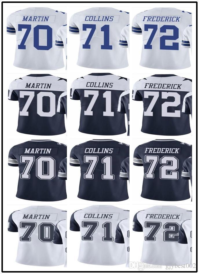 sale retailer 08b0b c3c67 custom Dallas Cowboys Jerseys#70 Zack Martin 71 La'el Collins 72 Travis  Frederick#YOUTH#Men's Limited Rugby jerseys