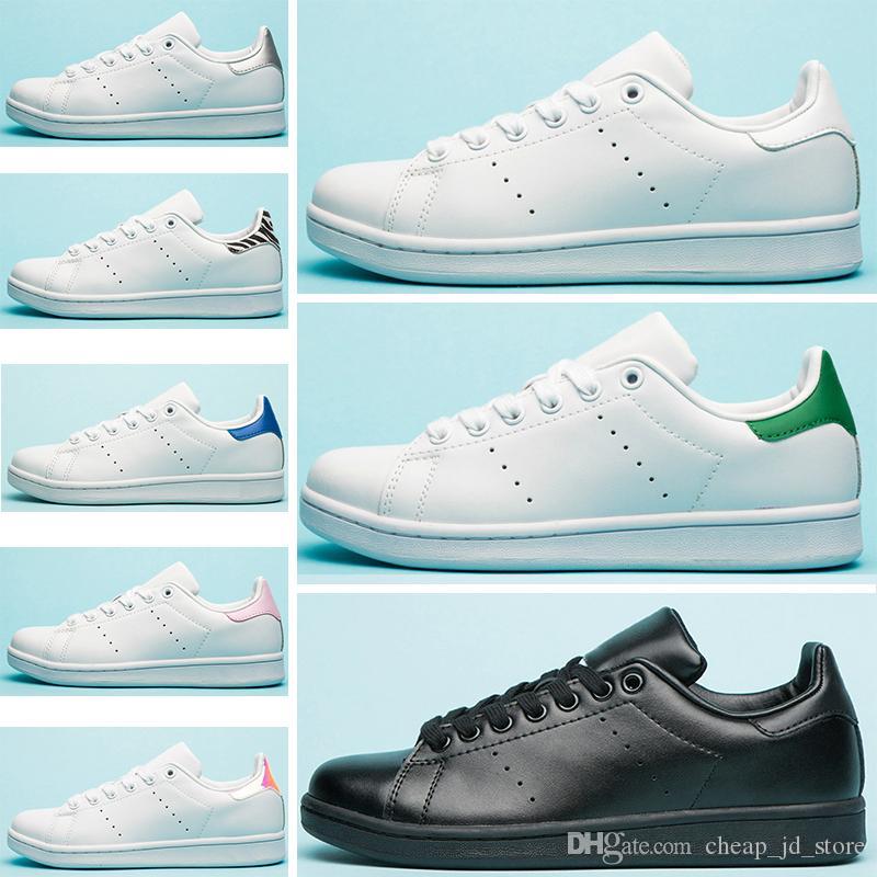 047b03db1f4 Acheter Adidas Stan Smith Nouvelle Haute Qualité Marque Nouvelle Stan  Chaussures Mode Smith Baskets Casual En Cuir Hommes Femmes Sport Chaussures  De Course ...