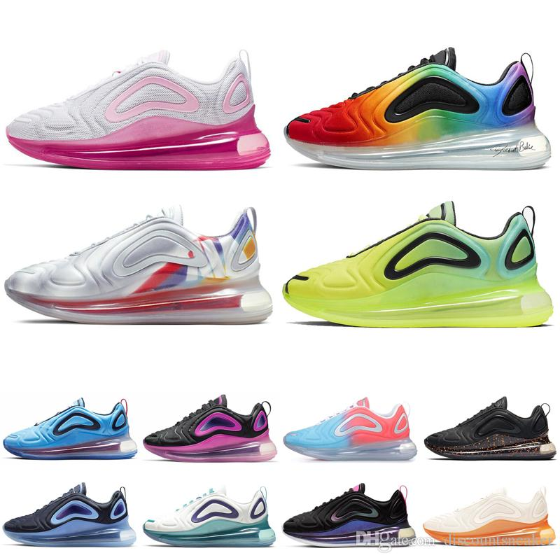 Nike air max 720 Cheap run shoes Sneakers para mujeres hombres negro blanco London Olympic running zapatos Athletic Outdoor mens trainer zapatos